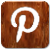 Wooden Pinterest Logo