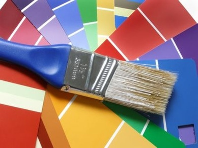 paint brush and swatches